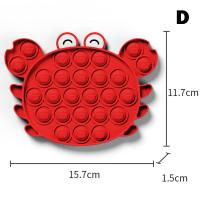 Mainan Anak Fidget Push Pop It Kepiting Merah Red Crab Tik Tok