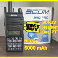 ht scom uv92 pro dual band vhf uhf fm radio speaker premium