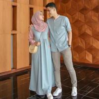 Gamis Couple Keluarga Pria Pesta Baju Pasangan Wanita Maxi Dress Murah