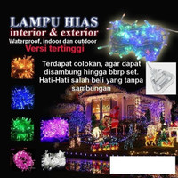Lampu Natal Tumbler Tumblr LED Hias Dekorasi berkualitas 100 Led