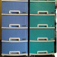 lemari plastik laci napolly susun 4 cabinet