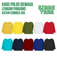 Kaos Polos Naked & Free Dewasa Lengan Panjang Bahan Katun Combed 30s