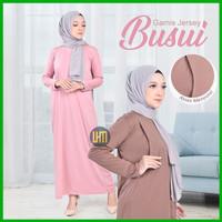 Baju Gamis Jersey Ibu Hamil dan Menyusui / Manset Gamis Busui Premium