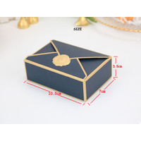 Gift Box Hadiah Kemasan Kado / Kotak Kado Fancy Motif Amplop - Biru
