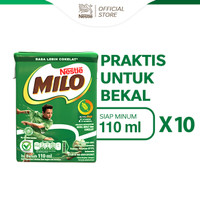 Milo Activ-Go Cokelat Susu UHT 110 ML [10 Pcs]