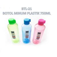 BTL-21 Botol Air Minum Plastik / Water Bottle 750ml BPA FREE