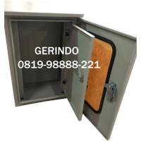 Box Panel Listrik Outdoor Double Door 60x40x25cm 2mm Powder Coating