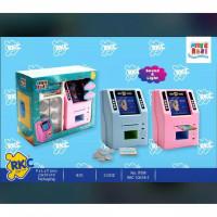 Mainan Edukasi Anak Mesin Mini ATM Bank RKC Celengan Pink biru