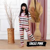 Baju Tidur Anak Perempuan Cewek Piyama Katun Eagle Pink 1-9 Tahun