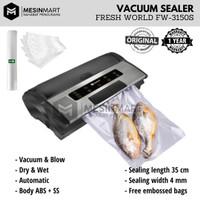 Vacuum Sealer/ Pengemas Vakum FRESH WORLD FW-3150S (Bisa Basah & Tiup)