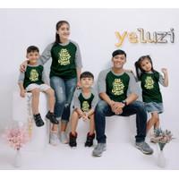Kaos baju pakaian atasan Couple sarimbit keluarga Stop Talking hijau