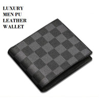 W131 Dompet Pendek Pria Luxury Male PU Leather Men Wallet