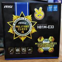 MSI H81M - E33 motherboard