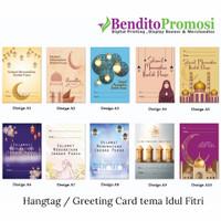 Greeting Card,Kartu Ucapan, HangTag Lebaran, HariRaya, kartu IdulFitri