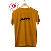Kaos Kata Bacot Warna Mustard Cotton Combed 30s Baju Distro Jumbo