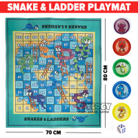 Snake and Ladder Playmat Game ( Matras Permainan Ular Tangga )