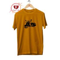 Kaos Vespa Warna Mustard COtton COmbed 30s Baju Distro Jumbo Murah