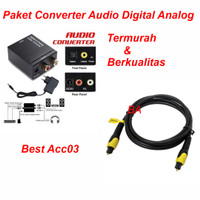 PAKET Digital Analog Audio Converter + Kabel Toslink 1.5m