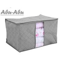 Keranjang Pakaian Selimut Bamboo Storage Box Bag