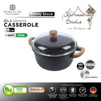 Debellin Black Casserole 28 cm Panci Granite Anti Lengket Premium - BCR28