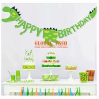 Banner happy birthday DINOSAURUS / banner pesta / banner ulang tahun