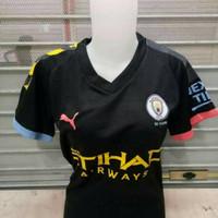 Jersey Kaos Baju Bola Cewek Ladies City Away Hitam 2019/2020 Grade Ori
