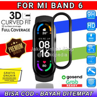 Anti Gores 3D CURVED Miband 6 Screenguard Xiaomi Mi Band 6 no tempered