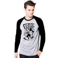 Vin.C Fashion/Kaos Pria/Kaos Friday Killer/Kaos sangat Nyaman dipakai - Hitam, M