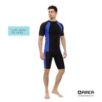 baju renang diving pria/laki dewasa setelan - Biru benhur, M