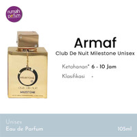 Armaf Parfum Original Club De Nuit Milestone Unisex 105 ML
