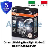 Osram LEDriving HL H4 Gen2 6000K Putih Italy 9726CW Lampu Mobil LED