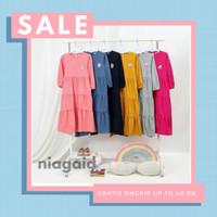 Gamis Kaos Baju Busana Muslim Blanjuran Anak Perempuan Cewek 1-10 Thn