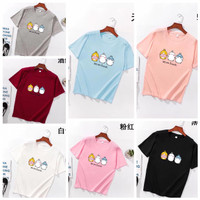 Kaos wanita murah lucu impor baju santai adem - We are friend, XXL (bb60-70)