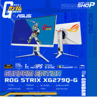 ASUS ROG STRIX XG279Q-G GUNDAM WHITE IPS 170Hz 1ms MONITOR GAMING 27