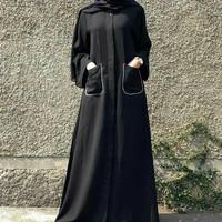 baju busana muslim wanita dewasa syar'i terbaru busui friendly by Noer