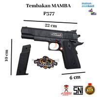 Mainan Anak tembak tembakan senjata pistol Dcobra BlackMamba-P377