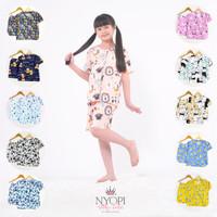 Mix - Piyama Anak Set Murah Celana Pendek S - XL (3-12 Tahun)