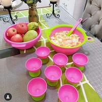 Vienna Maribella Bowl set of 11 pink