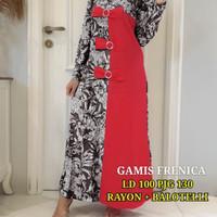 Maxi Dress Fashion Muslim Frenica Merah
