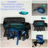Paket Filter Aquarium Pompa + Box Sedang + Selang Spiral 60cm