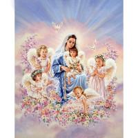 (TERIMA HASIL JADI) D652 Diamond Painting Maria dan malaikat 40×60CM