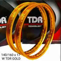 Velg TDR W Kotak 160 Ring 17 Gold Silver Original not tk excel rossi