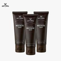 Penumbuh Brewok Lebat Pria Folti Baffi Mustache Cream Paket 3 Tube