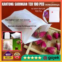 Filter Kantong Saringan Teh Kain Celup Kantung Paper Bag Tea 100 PCS