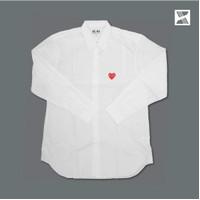 Comme Des Garcons CDG Play LS Shirt White - Men 100% Original