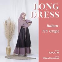 Baju Gamis Wanita terbaru syar'i brukat modern santai Muslim - Adiba