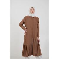 Hijabenka - Sephia Gina Pleated Dress