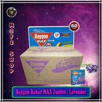 Ori Obat Nyamuk Bakar Baygon MAX Jumbo Lavender Ungu - 150 gr