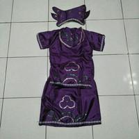 Adat anak perempuan TK daerah lampung (ungu)/kostum karnaval anak
