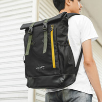 LOGAN BLACK MNM x ARCIO  Backpack Tas Ransel Pria FREE RAINCOVER - ORI